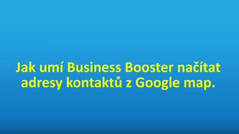 Booster umí doplnit adresy z databáze Google map