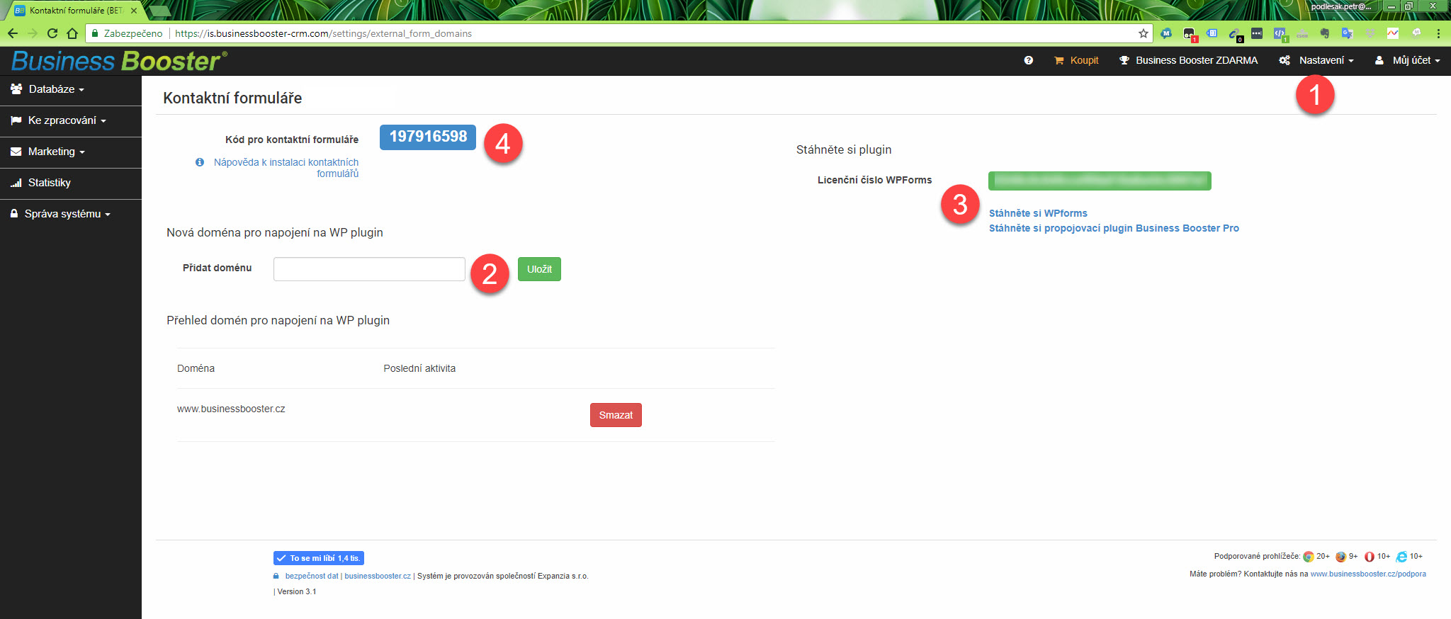 Kontaktní formuláře pro WordPress